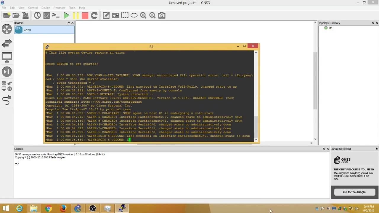 1.3.11 GRATUIT GNS3 TÉLÉCHARGER