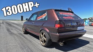 1300HP+ Volkswagen Golf 2 in Action! FASTEST Golf 2 in the World!