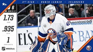 Robin Lehner awarded the Second Star of the Month
