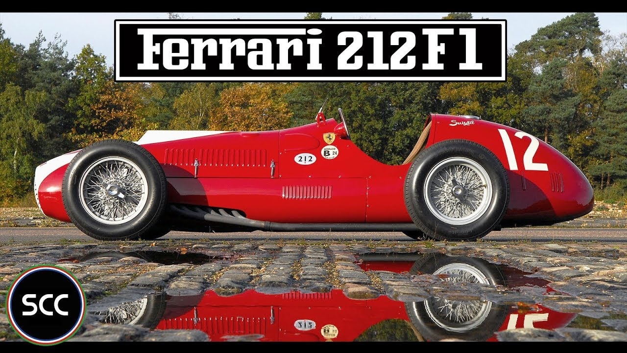 Ferrari 166 212 F1 Monoposto 1951 Racing V12 Engine Sound Vintage Formula 1 Scc Tv
