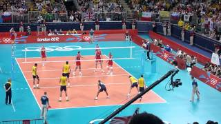 Greatest Volleyball points ever - Russia vs Brazil in London 2012 Olympic Men