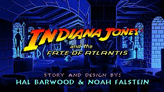 Indiana Jones and the Fate Of Atlantis (PC/DOS) Longplay, 1992, LucasArts™