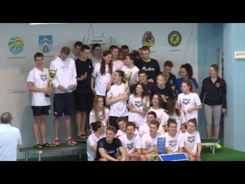 Dekoracja zwycieskich szkol SMS Liga SMS - II runda Ostrowiec Sw 5-6.06.2015