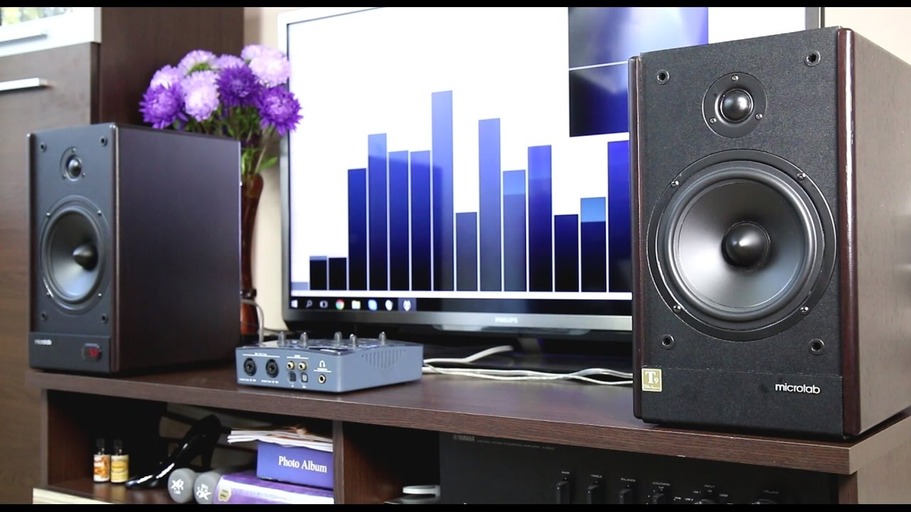Microlab Solo 6c stereo speakers sound & bass test