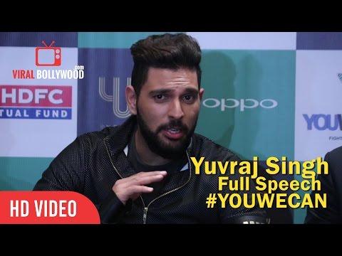 Yuvraj Singh Full Speech | YWC Fashion 2016 | Yuvraj Singh Foundation | Cancer Charity #YOUWECAN