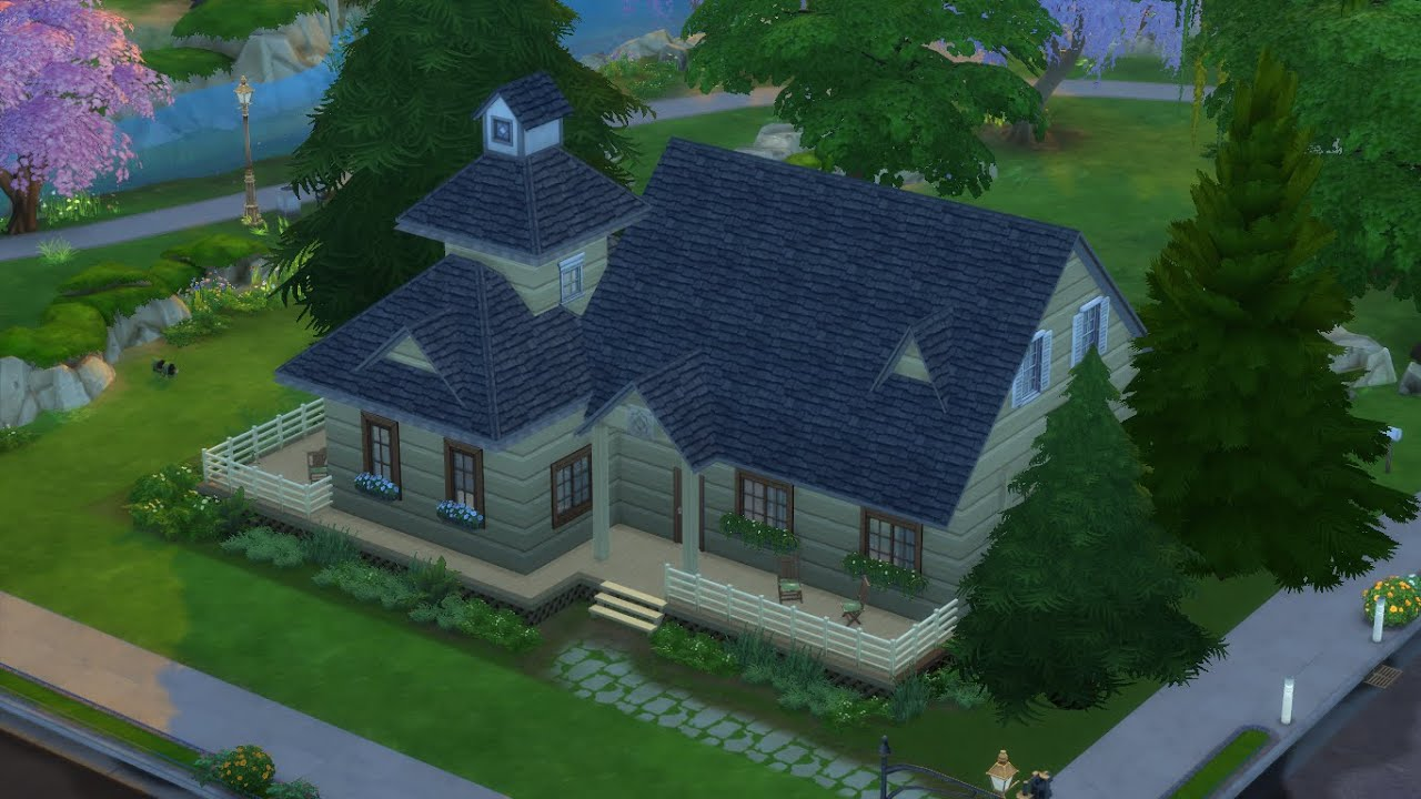Sims 4 Speed Build Sword Art Online House Youtube