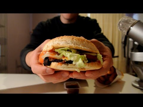 [ASMR] Hungry Jack's (Burger King) Whopper/Onion Rings   Eating Sounds