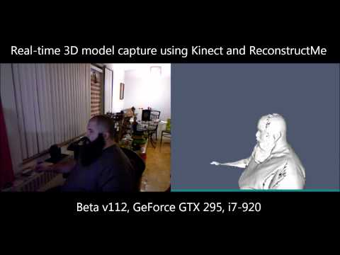 Real-time Kinect 3D scanning with ReconstructMe