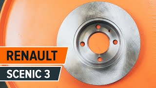 Hoe een achter remschijven vervangen op een RENAULT SCENIC 3 HANDLEIDING | AUTODOC