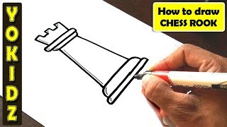 How to draw CHESS ROOK