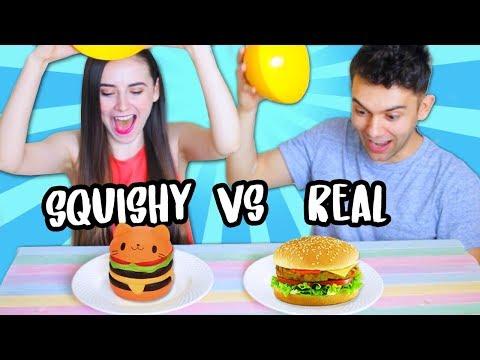 Squishy Food vs Real Food Challenge!