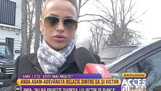 Anda Adam, totul despre adevărata relaţie cu Victor Slav!