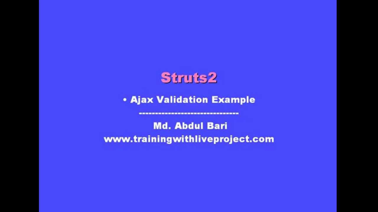 How to call action class using ajax in struts 2 websparrow.