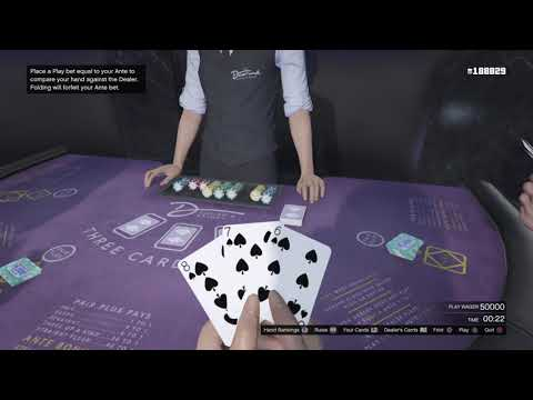 GTA Casino $655,000 In 40 Seconds Best Hand At 3 Card Poker.