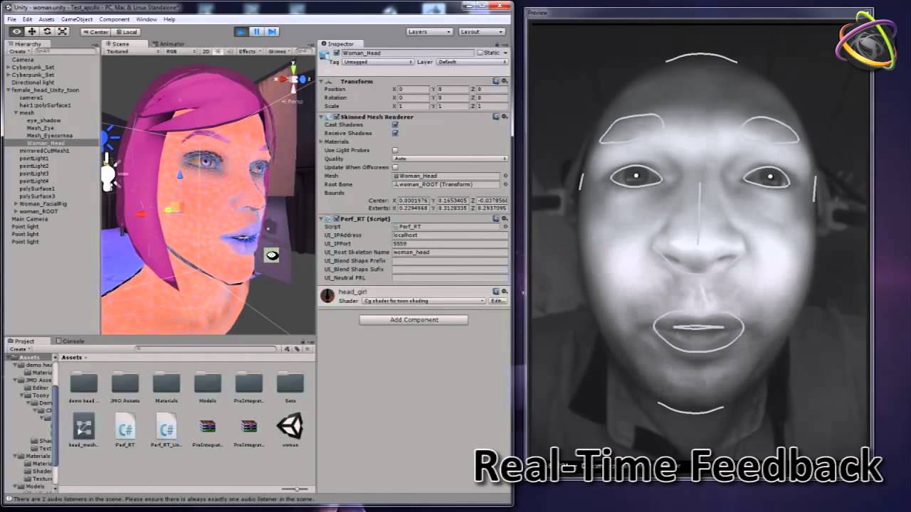 Dynamixyz' real-time facial motion capture in Unity