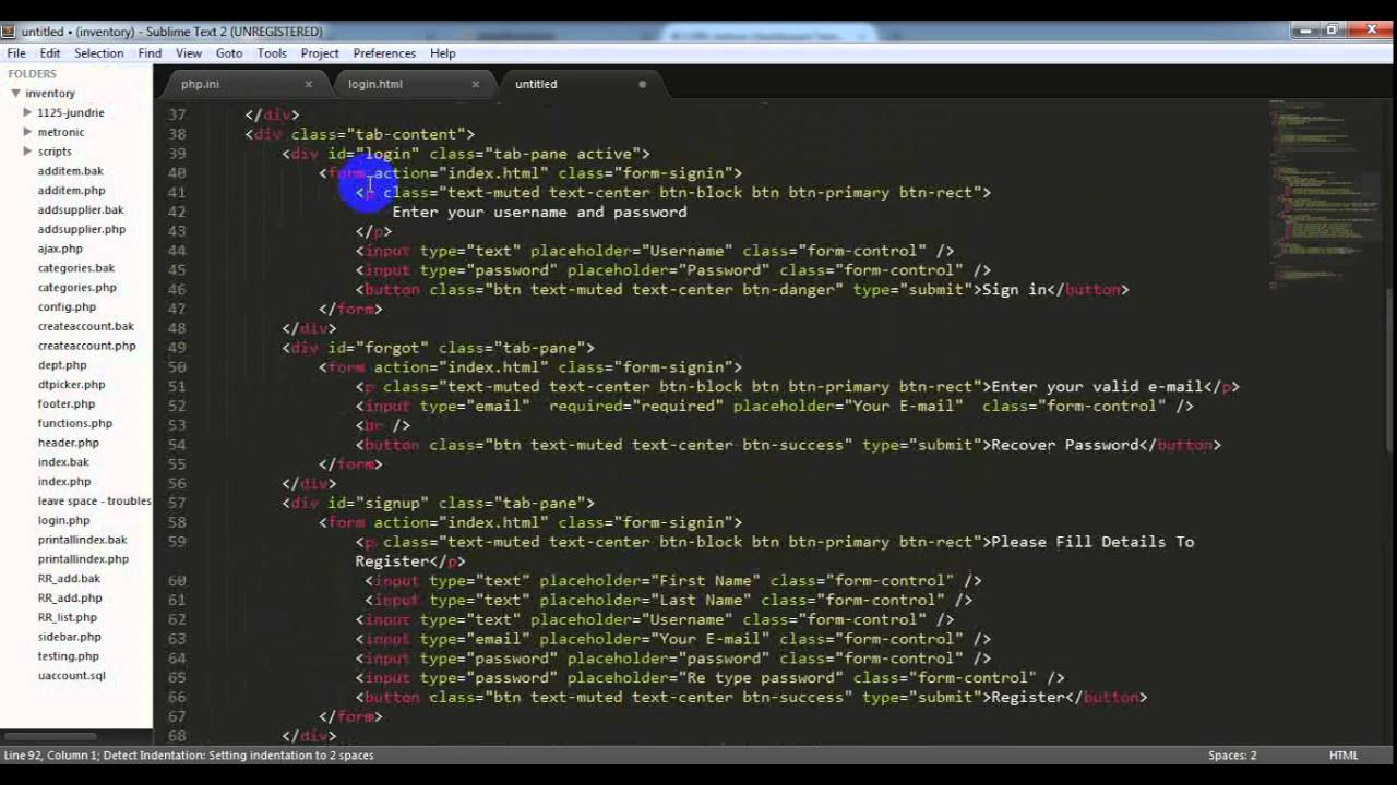Flotech Tutorial Setup New Project Using Php Mysql Free Css