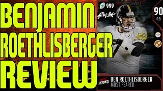 90 OVERALL MOST FEARED BEN ROETHLISBERGER REVIEW  | MADDEN 18 ULTIMATE TEAM PLAYER REVIEW