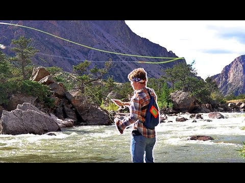 Fly Fishing CLARKSFORK YELLOWSTONE RIVER for WILD TROUT