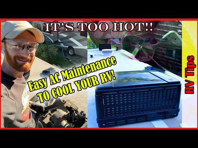 RV AC Fix | IT'S TOO HOT! | RV Air conditioner maintenance
