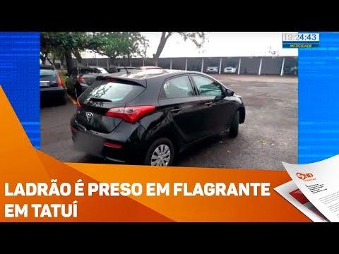 Ladrão é preso em flagrante em Tatuí - TV SOROCABA/SBT
