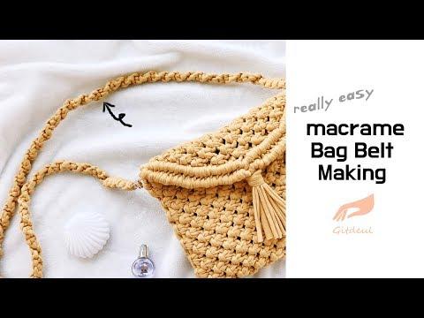 [깃들 마크라메] 가방끈 만들기 (마크라메 크로스백 가방끈 만드는 방법) / macrame bag belt makg