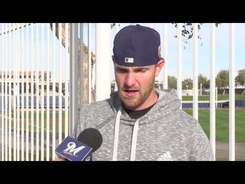 Jett Bandy talks about competing for the Brewers catching job