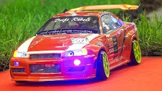 MEGA RC DRIFT CARS IN ACTION!! *MOBILE REMOTE CONTROL, RC MODEL SCALE CARS, RC NISSAN