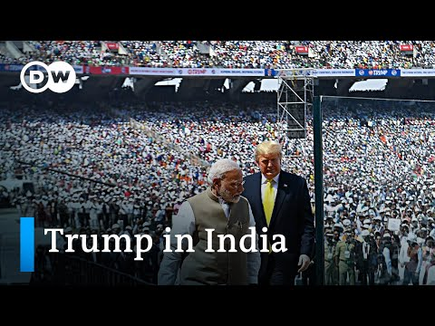 Trump Starts India Trip With Huge Stadium Rally | DW News
