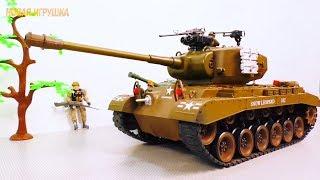 Игрушки войнушки ТАНКИ и военные МАШИНКИ на радиоуправлении