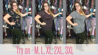 lularoe fit and sizing for the classic t try on m l xl 2xl 3xl