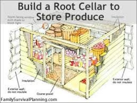 How To Build A Root Cellar In 7 Steps Food Storage Youtube