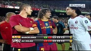 Penalties Barcelona 3-1 AC Milan 25-08-2010