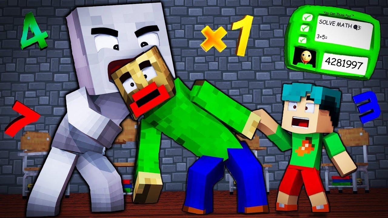Minecraft - BALDI'S BASICS - EVIL SOCK EATS BALDI ALIVE!