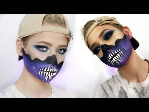 GALAXY SKULL HALLOWEEN MAKEUP TUTORIAL  | Jake Warden