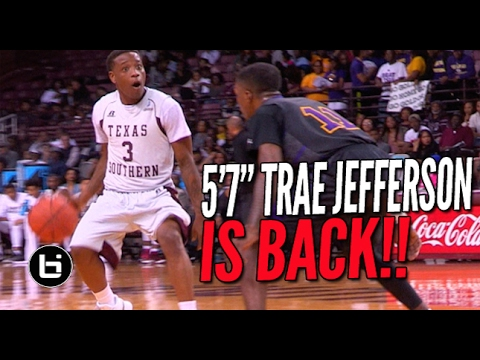 """5'7"""" Trae Jefferson SHIFTIN' In COLLEGE! Full Highlights"""