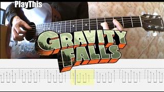 [Gravity Falls] Как играть тему из мультсериала на гитаре + ТАБЫ | Уроки гитары от PlayThis#9