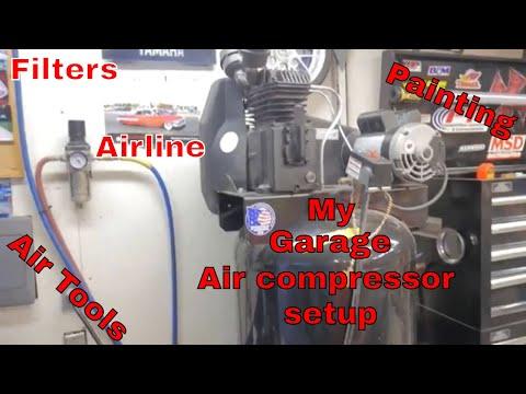air-compressor-set-up-in-my-garage,-sanborn-compressor-update,-airline,-filters