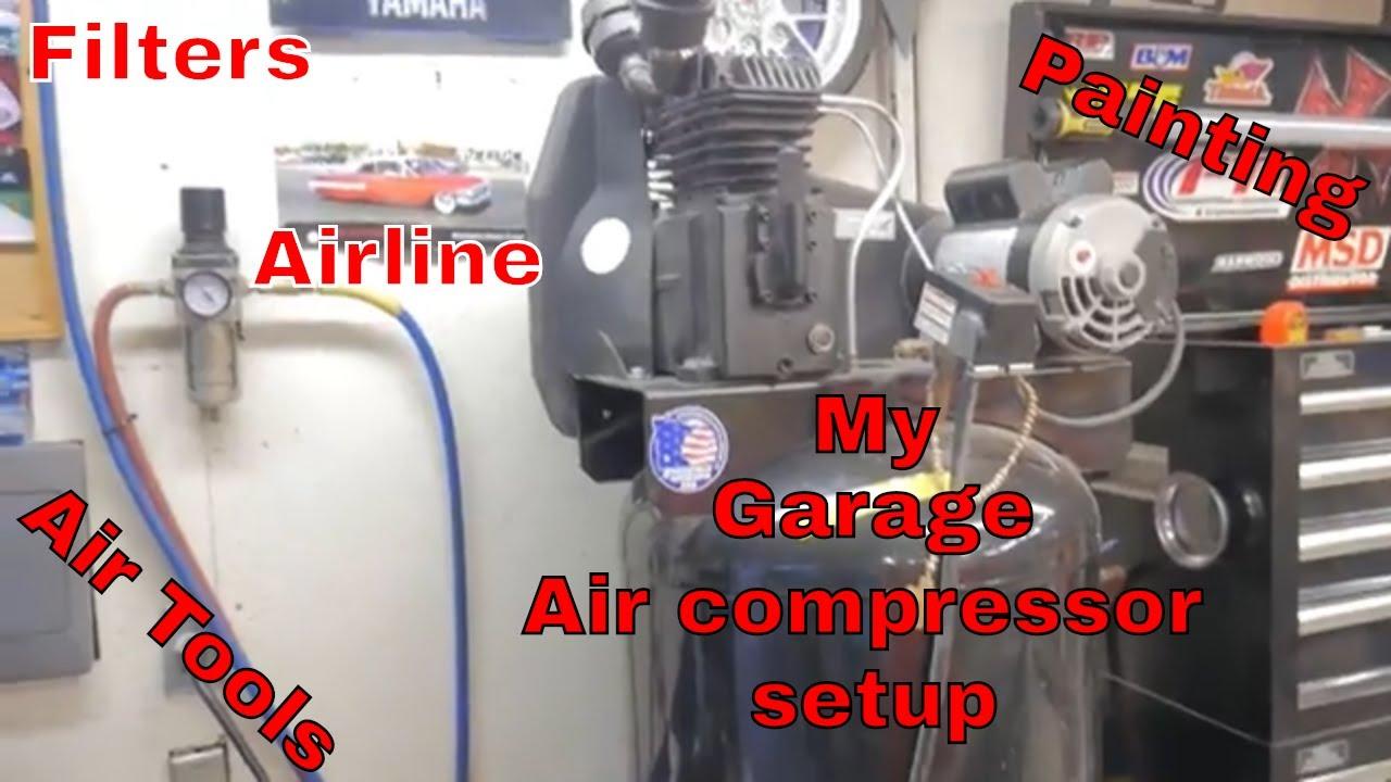 Air Compressor Set Up In My Garage Sanborn Compressor Update
