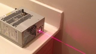 Red Computer Power Supply Laser!