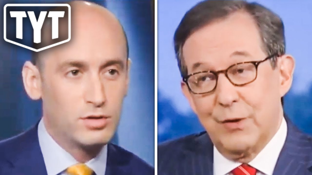 Ana Kasparian Nose Job the young turks': chris wallace took stephen miller to