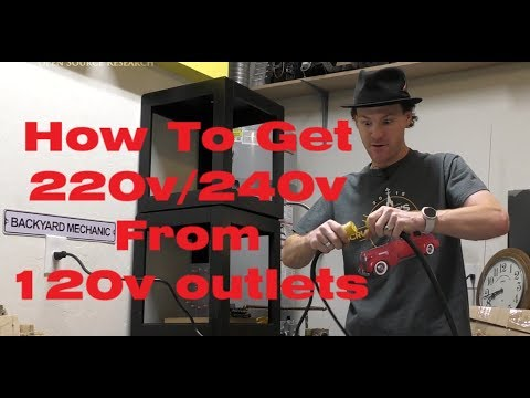 How To Get 220V/240V From Two 120V Outlets. No Electrical Panel Work Required...