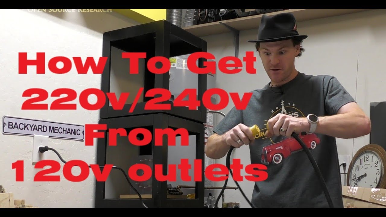 how to get 220v 240v from two 120v outlets no electrical panel work required  [ 1280 x 720 Pixel ]