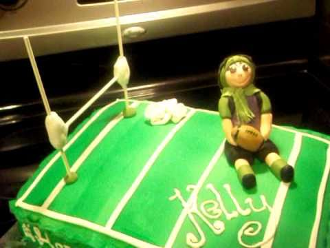 Football Field Rugby Fondant Cake By The Adorable Chef