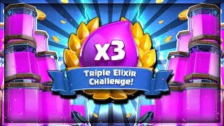 NEW ELIXIR CHALLENGE - 250,000 GOLD - LIVE!! - Clash Royale Triple Elixir Challenge