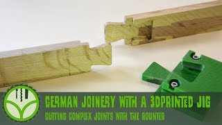 Traditional German joinery with a 3dprinted jig
