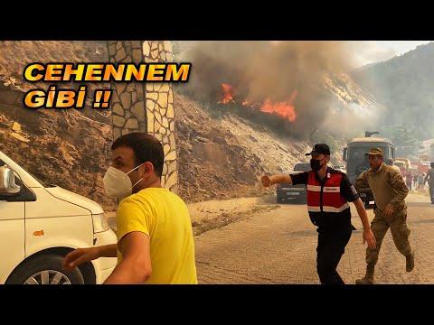 Alevler bir anda sardı yangının ortasında kaldık   Muğla'ya yardım götürdük   Kolaçan