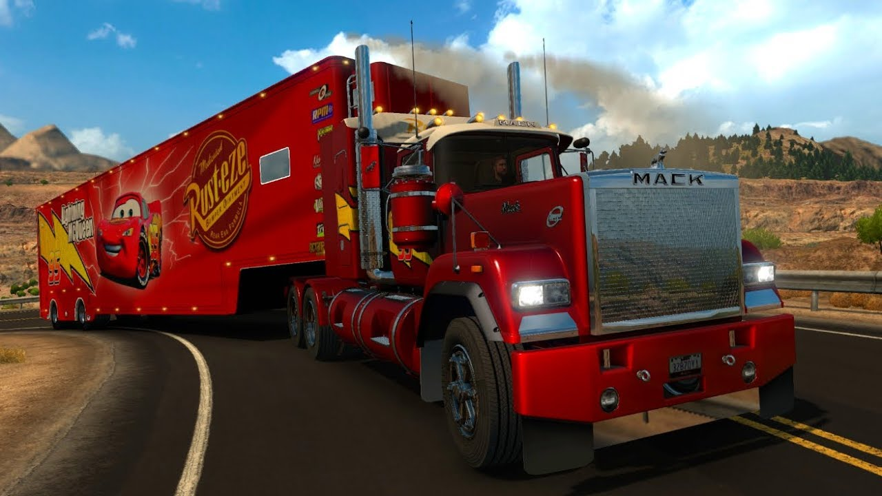 mack truck superliner trailer rayo mcqueen youtube. Black Bedroom Furniture Sets. Home Design Ideas