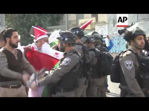 'Santas' protest US stance on Jerusalem as Israel capital