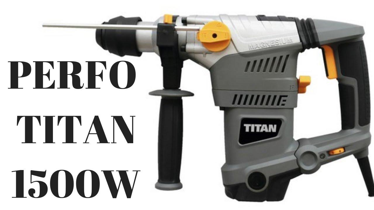 Perforateur 1500w Titan Bricodepot