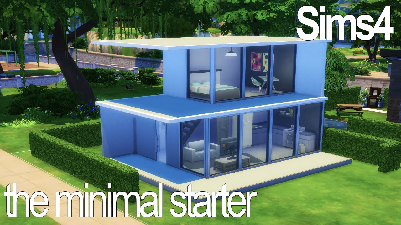 Minimal Starter The Sims 4 Speed Build Youtube